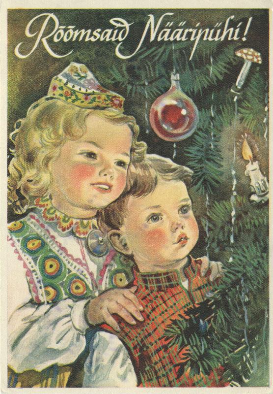 Смешной картинки, эстонские рождественские открытки
