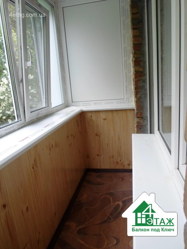 Обшивка балкона деревом - выгодные цены на внутреннее обустр.
