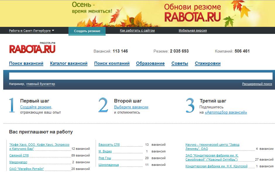 сайт по поиску работы в москве труд ру фары