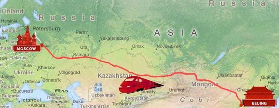 Вариант прохождения высокоскоростной железной дороги между Москвой и Пекином. Этот крупнейший инфраструктурный проект намерены профинансировать китайские банки, но пока что с ним связан целый ряд сложностей, в том числе связанных с финансовым и юридическим контролем над будущей ВСМ doroga.jpg