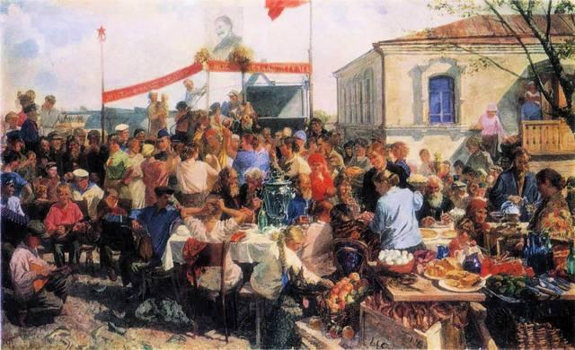Arkady Plastov - праздник в колхозе