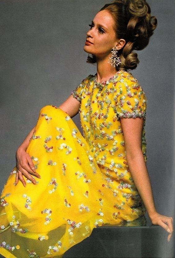 Dress by Belinda Bellville. UK Vogue, 1967