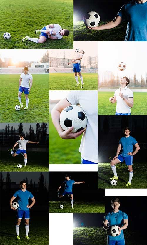 Тренировка футболиста - Растровый клипарт / Soccer player training - Raster clipart