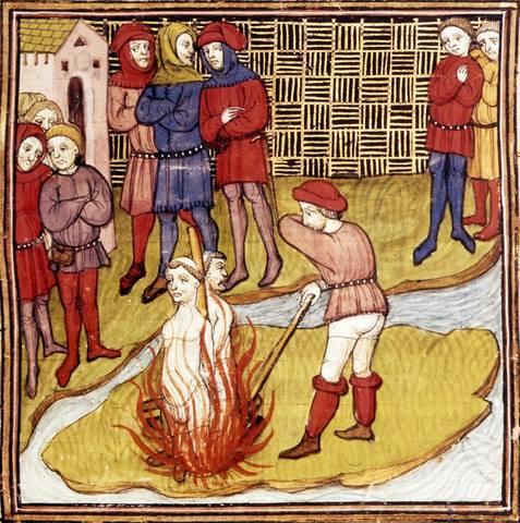Сожжение тамплиеров в1314 году вПариже