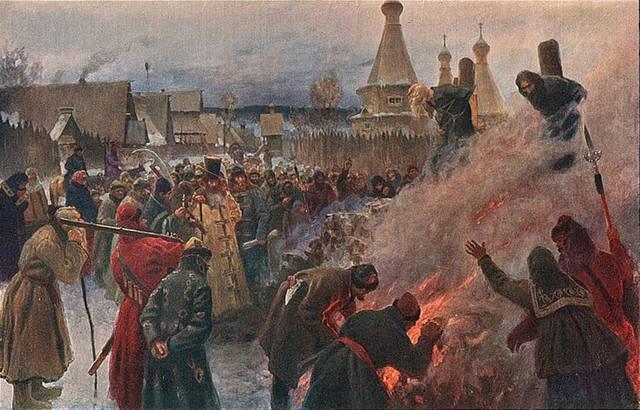 Сожжение протопопа Аввакума (Картина Петра Мясоедова, 1897)