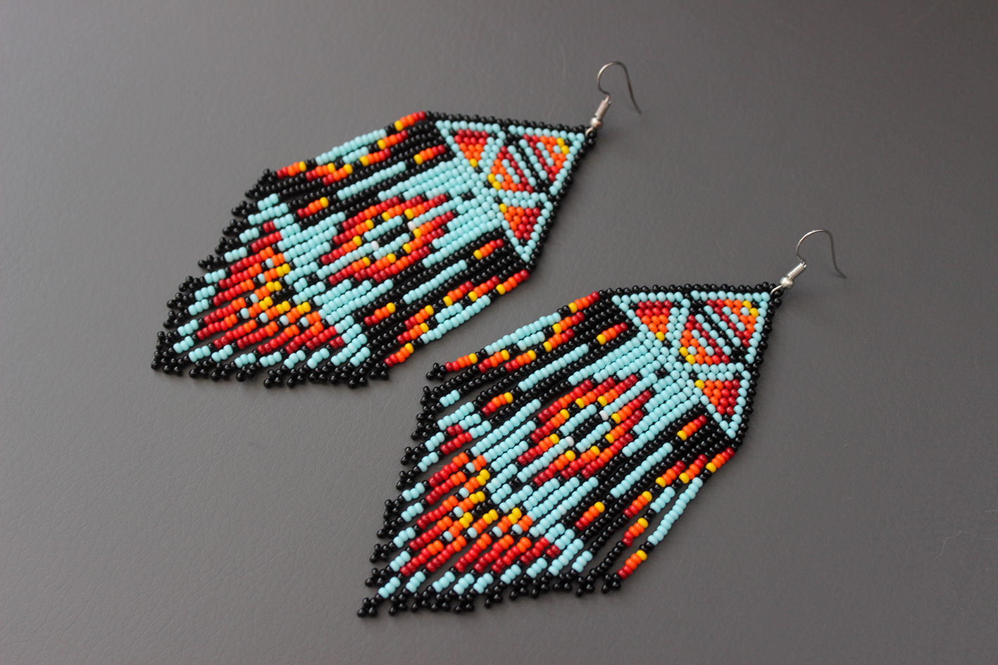 how to make beaded earrings with thread