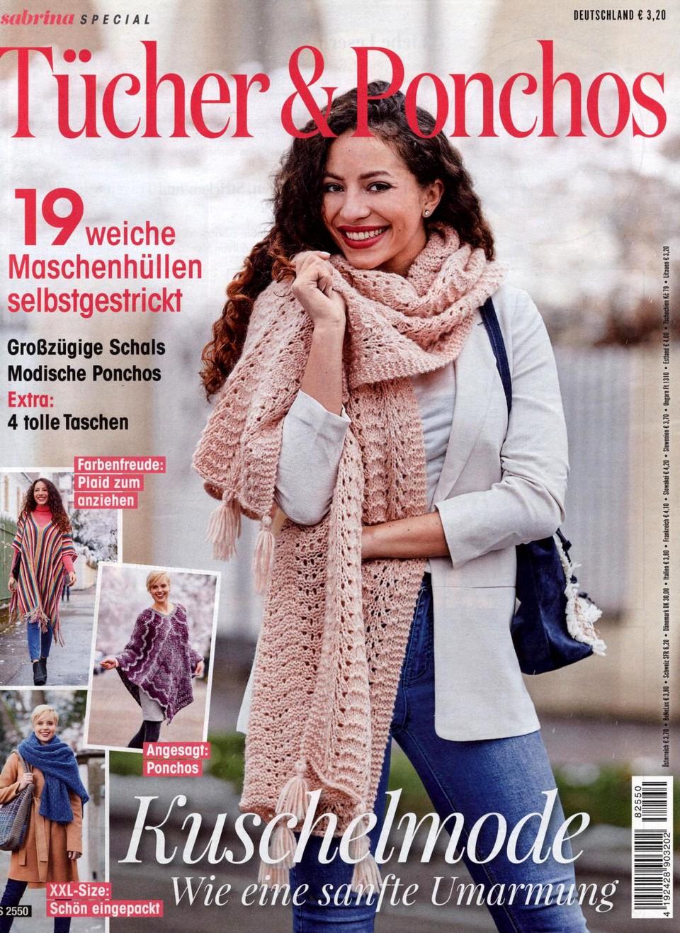 Журнал по вязанию Sabrina Special S2550: Tücher & Ponchos 2018.