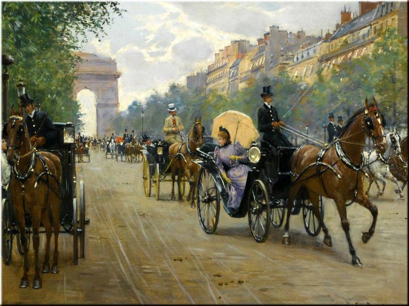 Scène sur les Champs-Élysées.