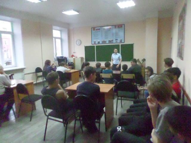 Инспектор ОУУПиПДН в клубе «Мечтатель»
