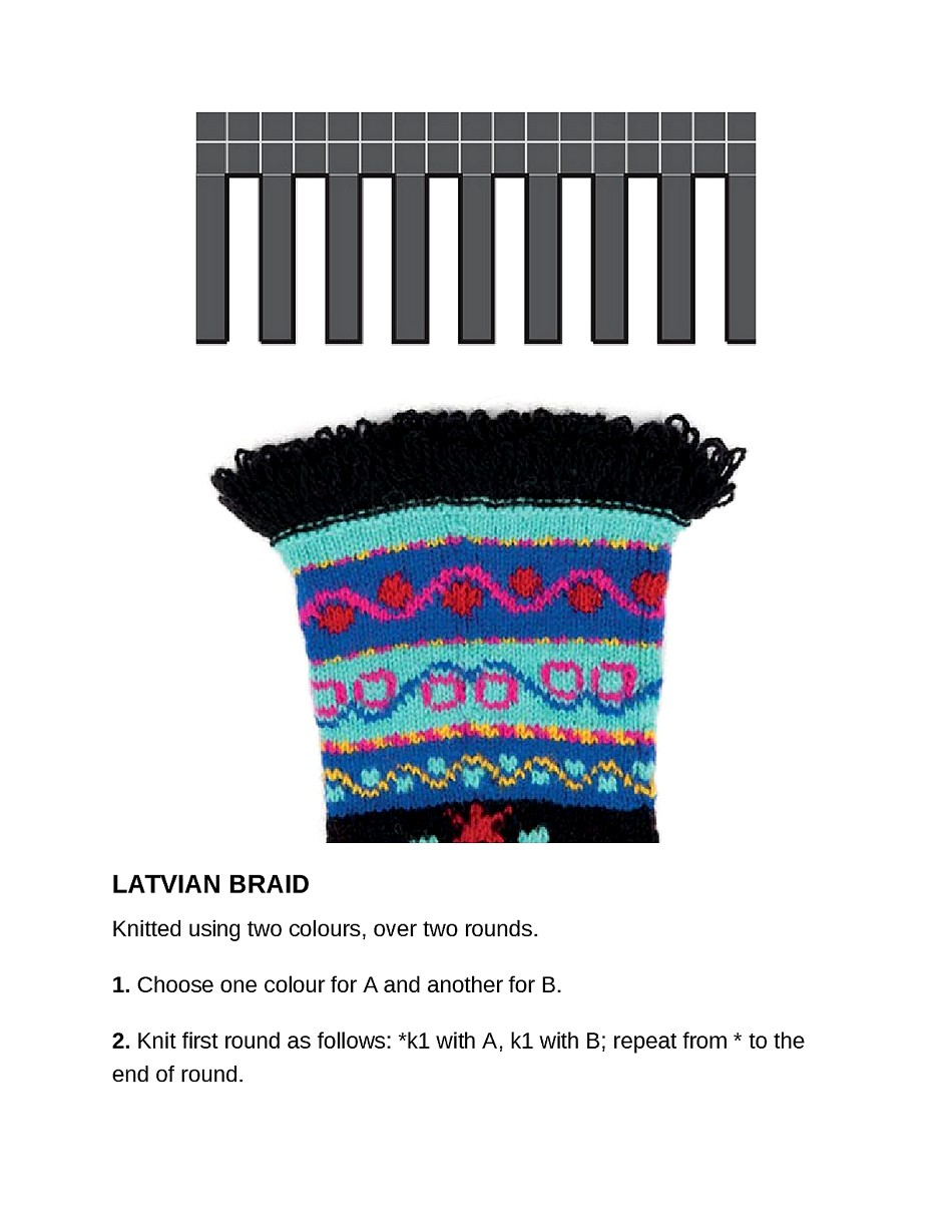 Knit Like a Latvian 50 Knitting Patterns for a Fresh Take on Traditional Latvian Mittens-233