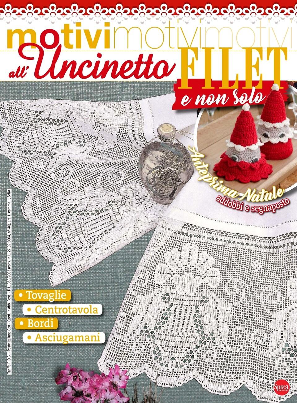 Филейное вязание крючком. Журнал Motivi all'Uncinetto №38 2018