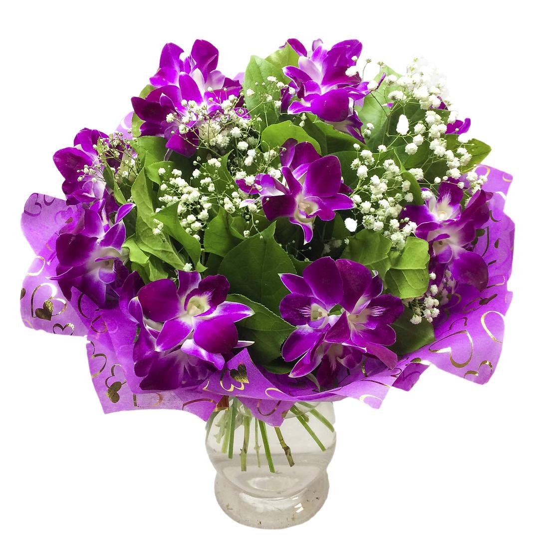 Цветов херсоне, купить букет орхидей дендробиум розовый 51 шт