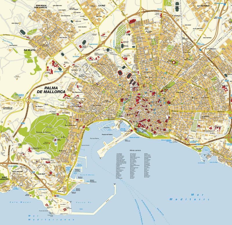 ville palma majorque 004 (carte touristique)
