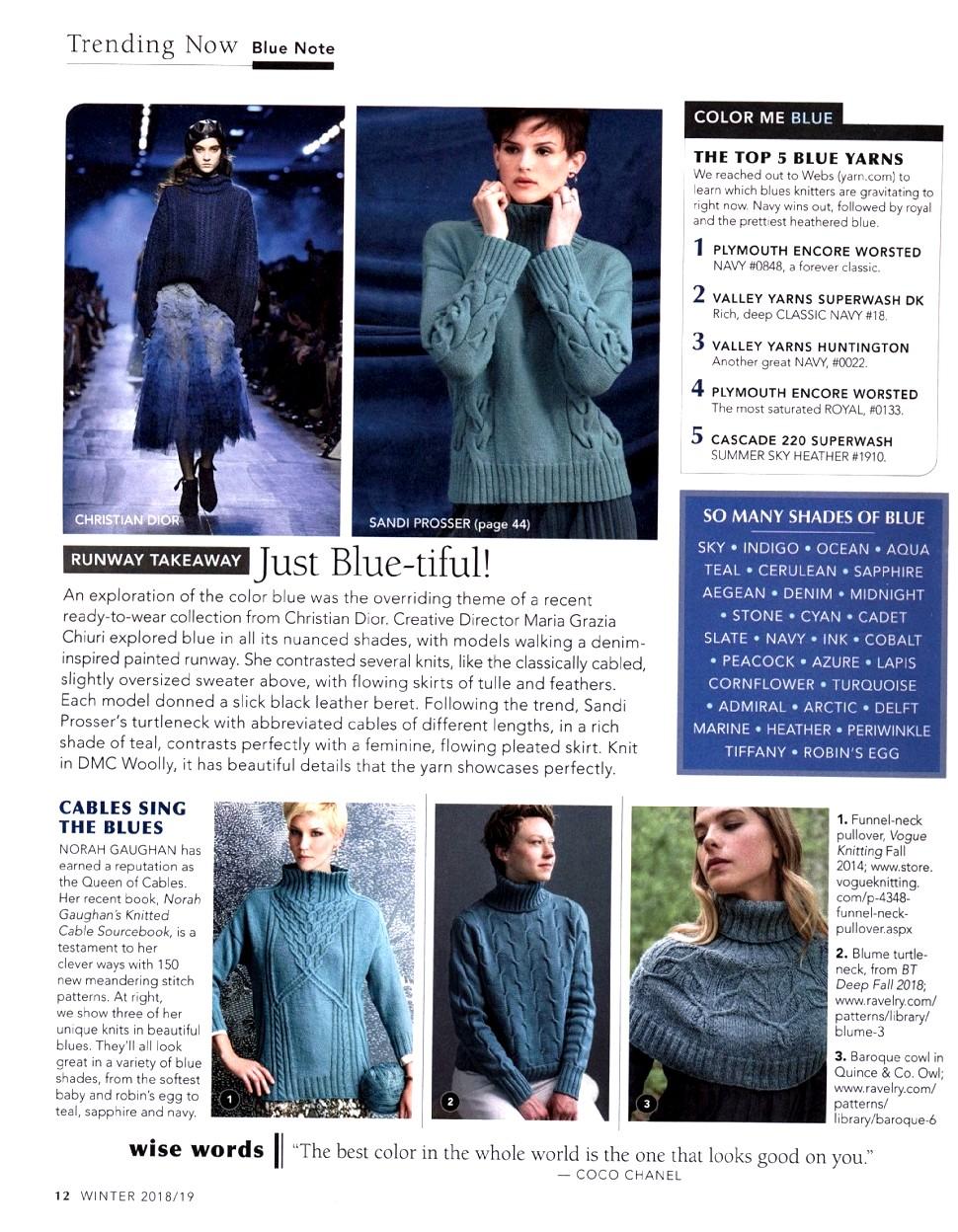 Vogue Knitting - Winter 2018/2019   Обсуждение на