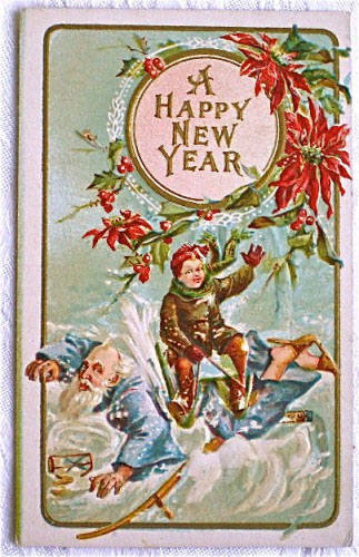 strange and unusual christmas cards from the past century 4