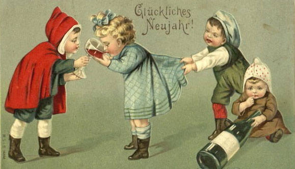 strange and unusual christmas cards from the past century 12
