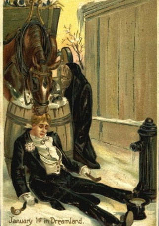 strange and unusual christmas cards from the past century 10