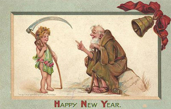 strange and unusual christmas cards from the past century 18