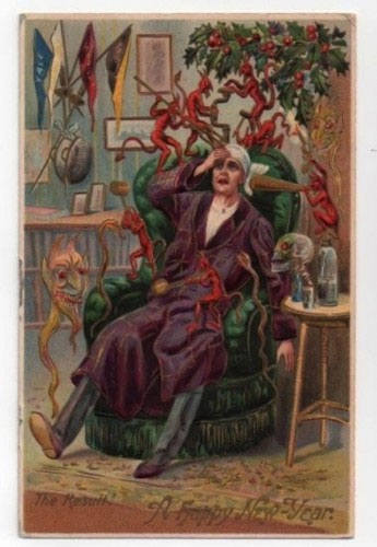 strange and unusual christmas cards from the past century 15