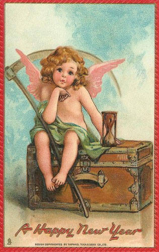 strange and unusual christmas cards from the past century 17