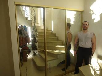 Трёхдверный зеркальный шкаф купе Стоимость 29000 ₽