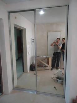 Зеркальные двери купе в гардеробную Стоимость 17000 ₽