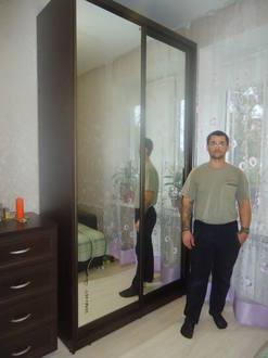 Шкаф купе зеркальный в спальню Стоимость 26000 ₽