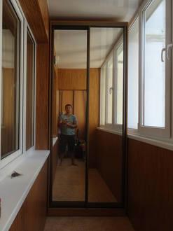 Зеркальный шкаф купе на лоджию Стоимость 21000 ₽