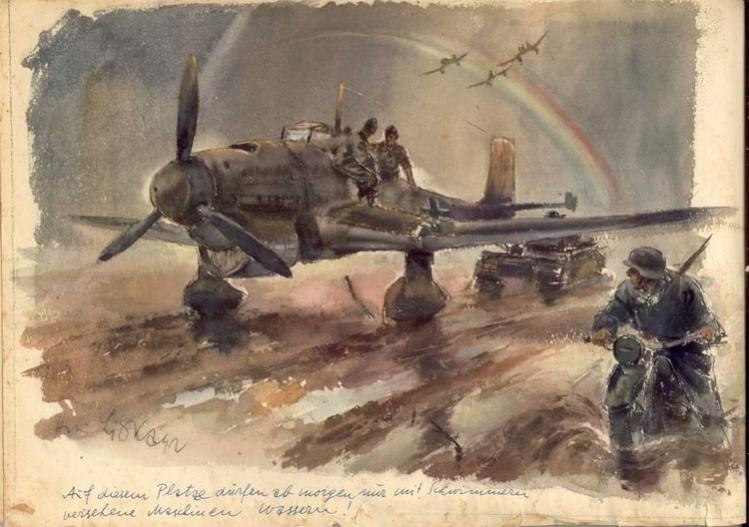 Талантливые рисунки нацистского художника