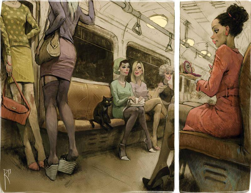 ведьмы в метро