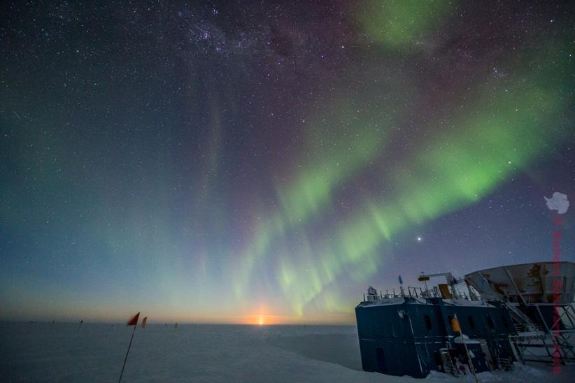 полярная ночь в антарктиде фото