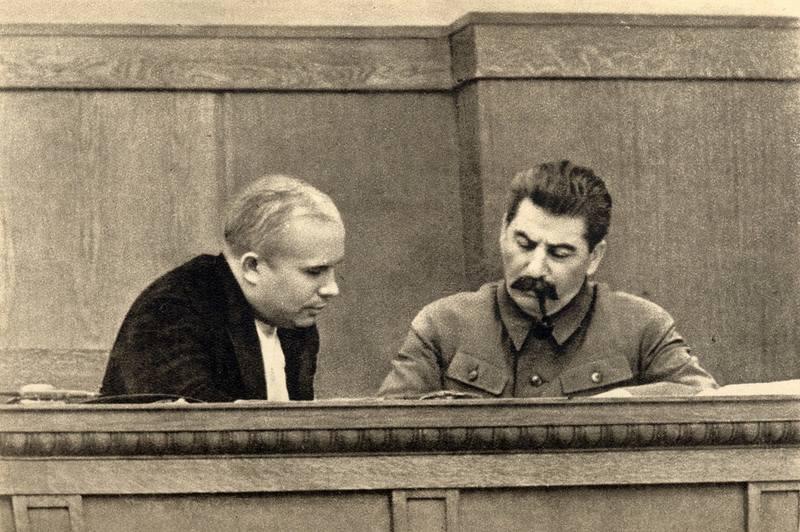 1280px-Joseph Stalin and Nikita Khrushchev, 1936