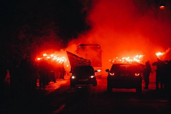 Огненное шоу Зенит - Фенербахче