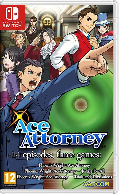 Phoenix Wright Ace Attorney: Trilogy Switch NSP