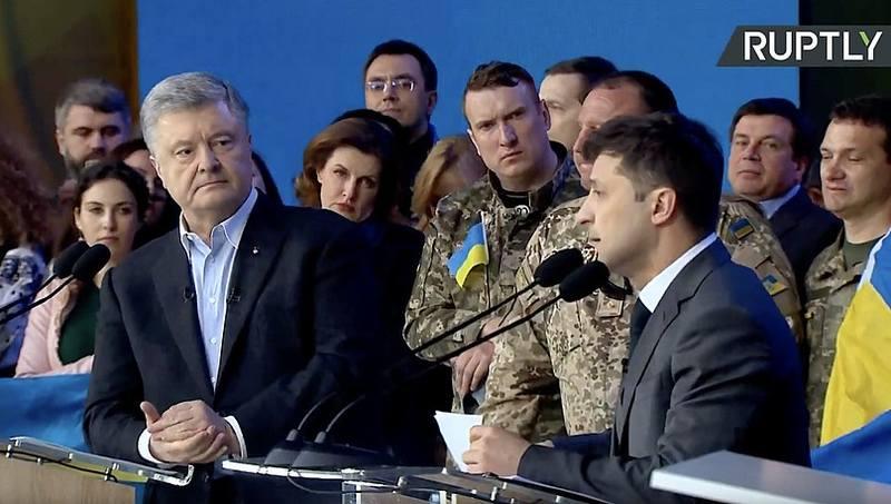 дебаты Зеленского и Порошенко