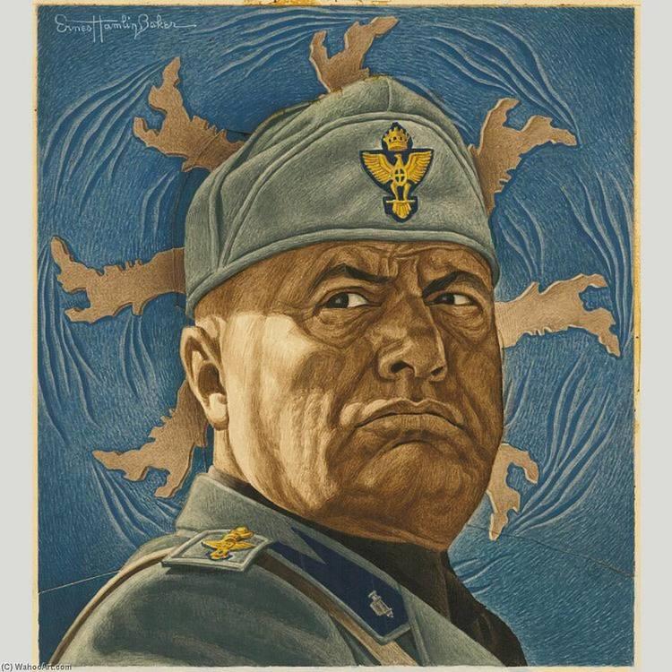 Ernest-Hamlin-Baker-Benito-Mussolini