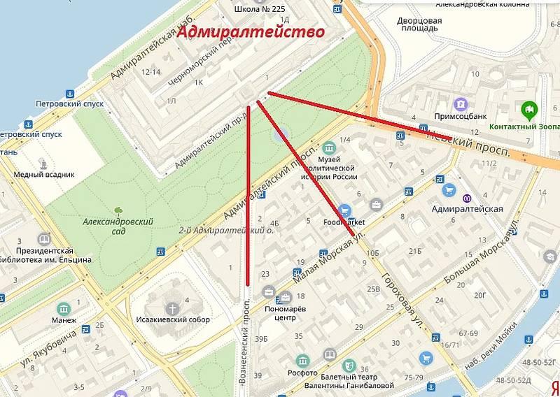Адмиралтейство на карте