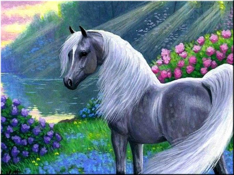 Лошади открытка, стихах сайт