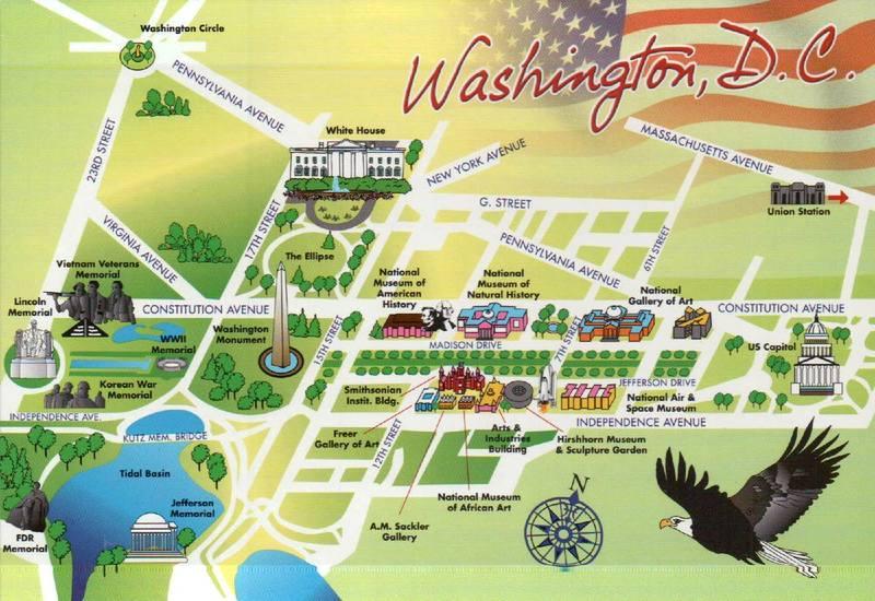 Карта центра Вашингтона