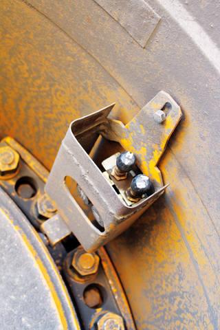 Восточно-Бейский разрез, датчик давления в шинах