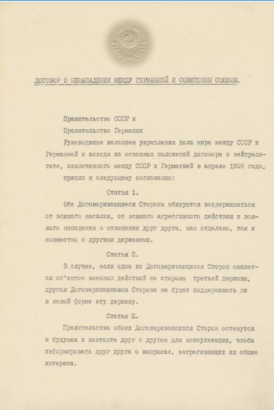Molotov–Ribbentrop Pact Page 1