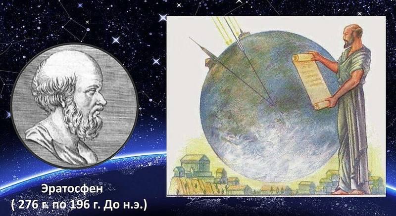 Греческий ученый Эратосфен Киренский
