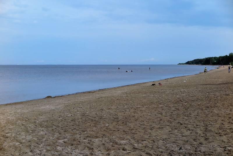 Пляж в Приозерске