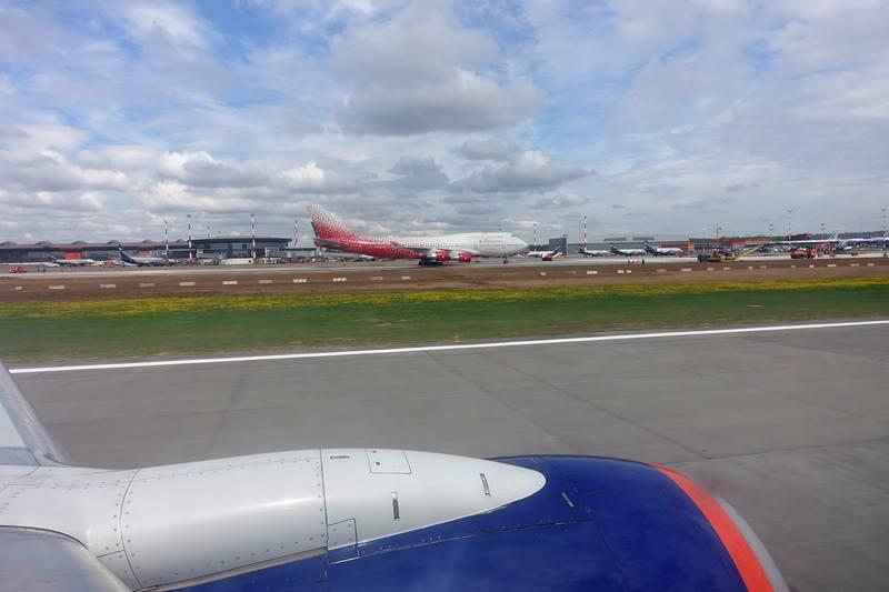 Вылет из Нью-Йорка в Москву и Петербург