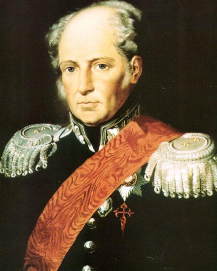 Augustin de Betancourt in Russian attire, 1810s