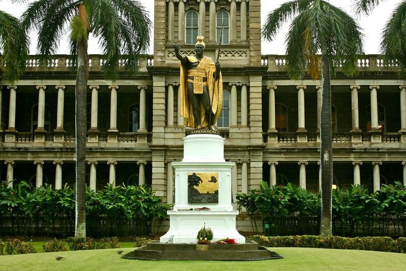 king kamehameha i statue - honolulu