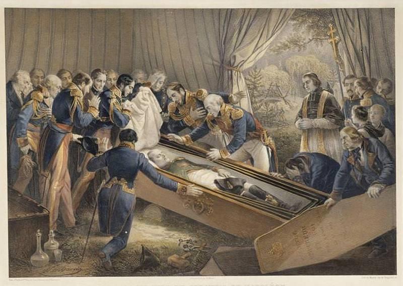 Открытие гроба Наполеона