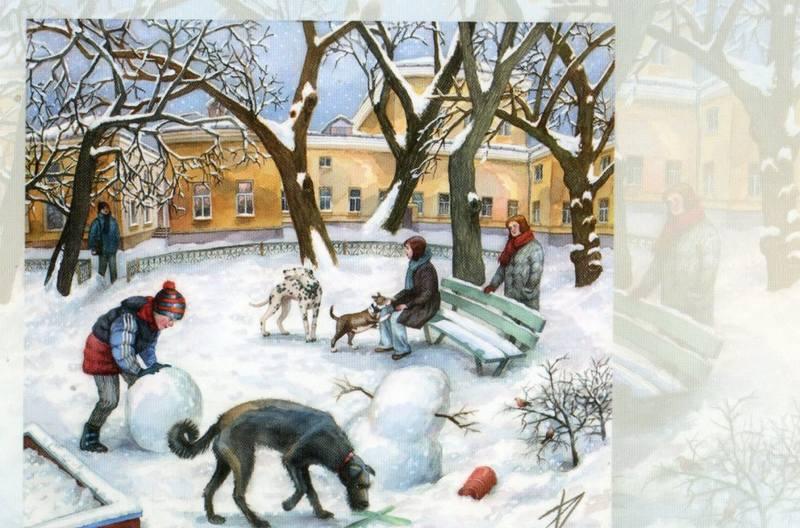 Питер и Москва на работах Елены (Алёны) Дергилёвой