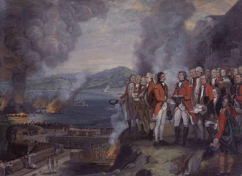 The Siege of Gibraltar, 1782 by George Carter