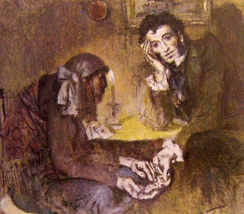 Пушкин и предсказание гадалки